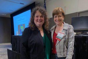 Lisa at spring collaborative conference